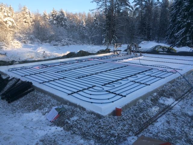 VVS arbete i grund för en nyproducerad villa från Tunastugan i Rasbo Uppsala.