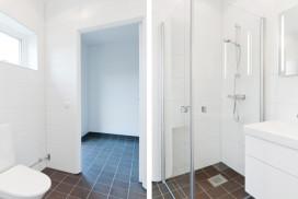 Nybyggnation av badrum för parhus i Näs Focksta.